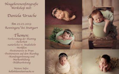 Workshop de fotografie newborn în Germania