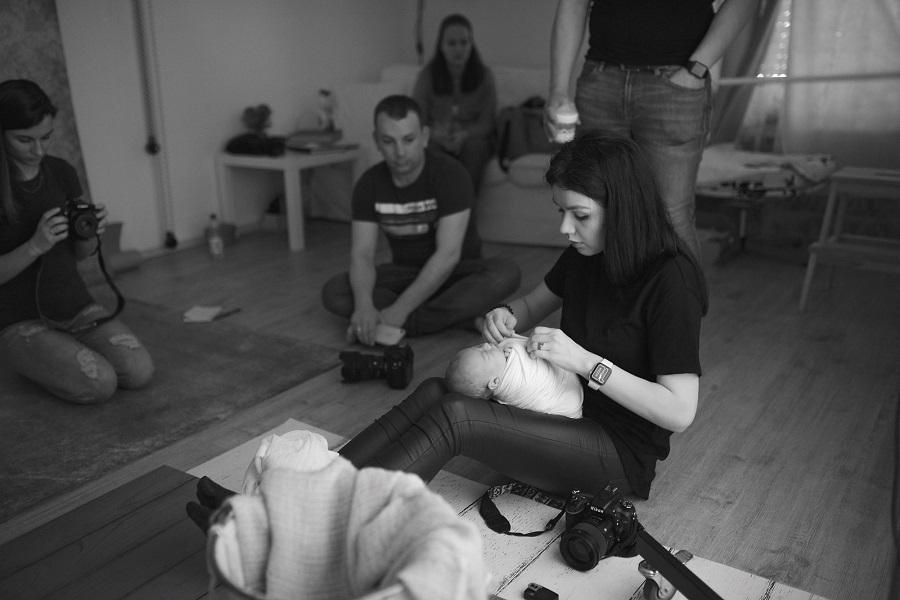 Workshop de fotografie newborn în Dorsten – Amintiri din luna martie